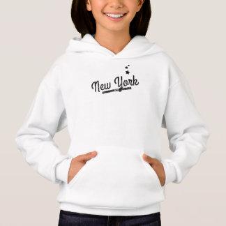 Distressed Retro New York Logo Hoodie