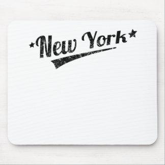 Distressed Retro New York Logo Mouse Pad