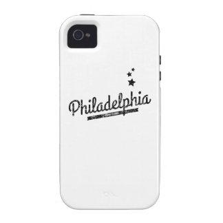 Distressed Retro Philadelphia Logo iPhone 4 Cases