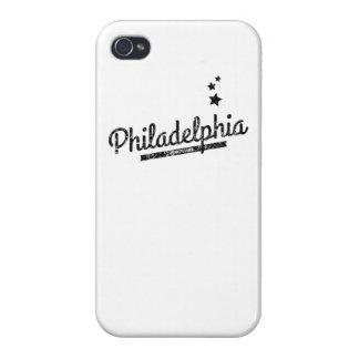Distressed Retro Philadelphia Logo iPhone 4/4S Covers
