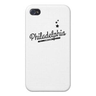 Distressed Retro Philadelphia Logo iPhone 4/4S Cover