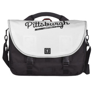 Distressed Retro Pittsburgh Logo Bag For Laptop