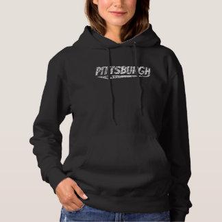 Distressed Retro Pittsburgh Logo Hoodie