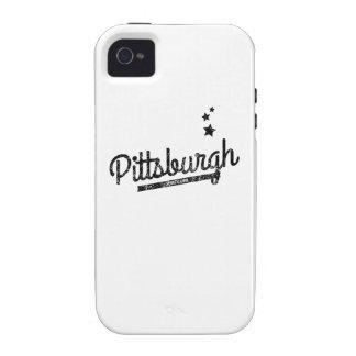 Distressed Retro Pittsburgh Logo iPhone 4 Case