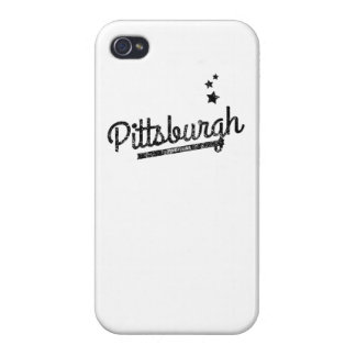 Distressed Retro Pittsburgh Logo Covers For iPhone 4