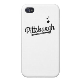 Distressed Retro Pittsburgh Logo Cases For iPhone 4