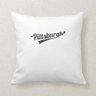 Distressed Retro Pittsburgh Logo Pillows