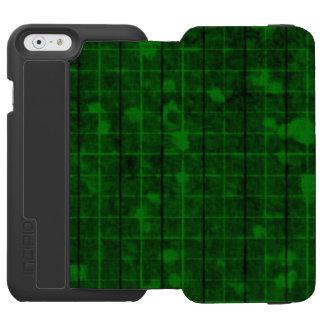 Distressed Retro Plaid Grunge Green Incipio Watson™ iPhone 6 Wallet Case