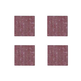 Distressed Retro Plaid Grunge Rose Stone Magnet
