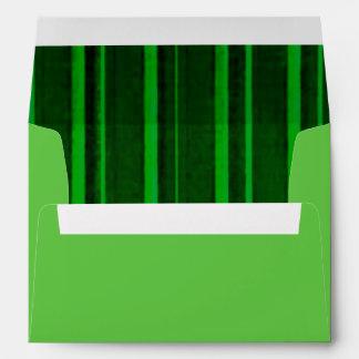 Distressed Retro Stripe Green Envelopes