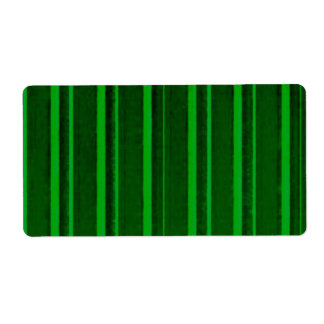 Distressed Retro Stripe Green Shipping Labels