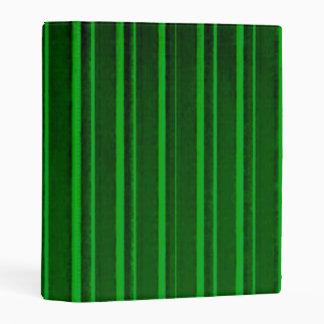 Distressed Retro Stripe Green Mini Binder