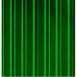 Distressed Retro Stripe Green Acrylic Cut Out