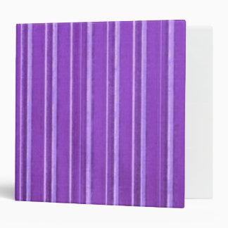 Distressed Retro Stripe Lavender Purple Vinyl Binder