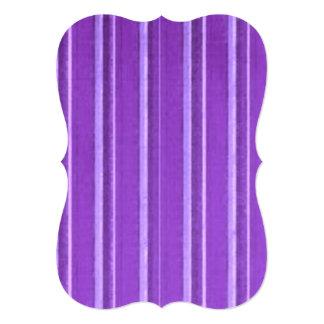 Distressed Retro Stripe Lavender Purple Invitation