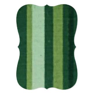 Distressed Retro Stripe Lime Green Personalized Invite