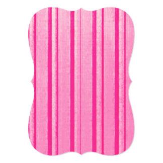 Distressed Retro Stripe Pink Grunge Primitive Personalized Invitations