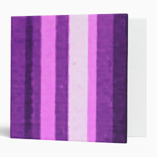 Distressed Retro Stripe Plum Purple Vinyl Binder
