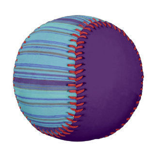 Distressed Retro Stripe Purple Baseball