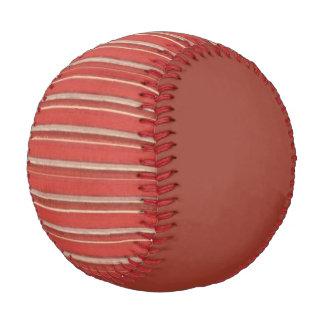 Distressed Retro Stripe Rusty Beige Baseball