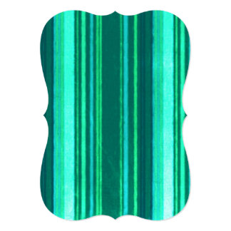 Distressed Retro Stripes Teal Green Turquoise Card