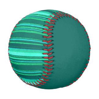 Distressed Retro Stripes Teal Turquoise Stripe Baseball