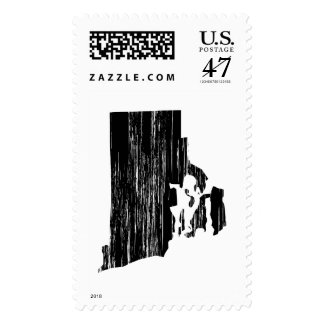 Distressed Rhode Island State Outline Postage