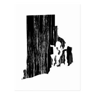 Distressed Rhode Island State Outline Postcard
