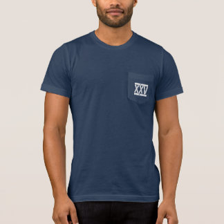 DISTRESSED Roman NUMERALS #25 Birthday Tee