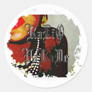 Distressed Round Stickers