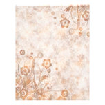 """Distressed Rust Fall Floral 8.5"""" X 11"""" Flyer"""
