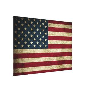 Distressed Rustic American 50 Star Flag Print
