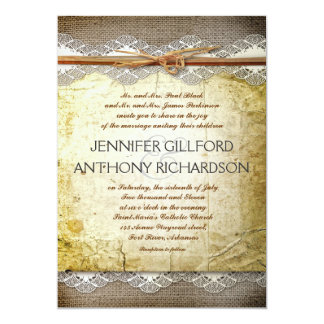 distressed rustic wedding invitations