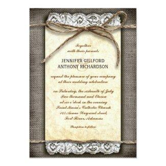 distressed rustic wedding invitations