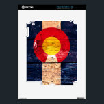 """Distressed rustic wooden Colorado state flag Skin For iPad 2<br><div class=""""desc"""">Distressed rustic wooden Colorado state flag</div>"""