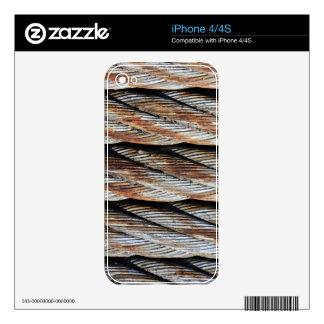 Distressed Rusting Metal Rope - Nautical Print iPhone 4S Decal