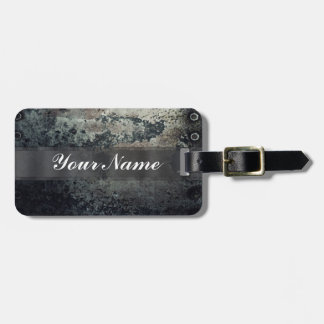 Distressed rusty metal tag for bags