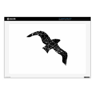 Distressed Seagull Silhouette Decals For Laptops