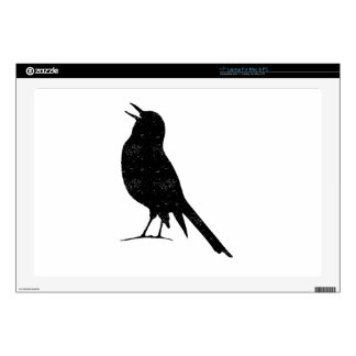 Distressed Seagull Silhouette Laptop Decal
