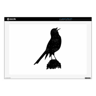 Distressed Seagull Silhouette Skins For Laptops