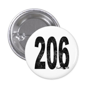 Distressed Seattle 206 Button
