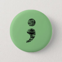Distressed Semicolon Button