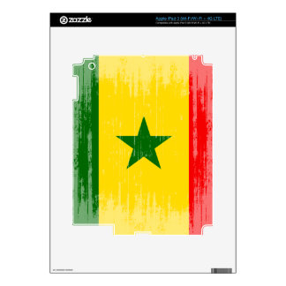 DISTRESSED SENEGAL FLAG png Decal For iPad 3
