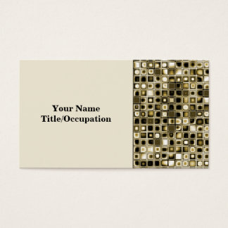 Distressed Sepia Tones Textured Grid Pattern Business Card