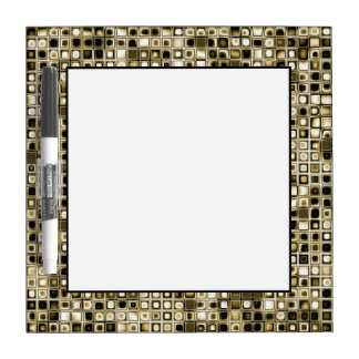 Distressed Sepia Tones Textured Grid Pattern Dry-Erase Board