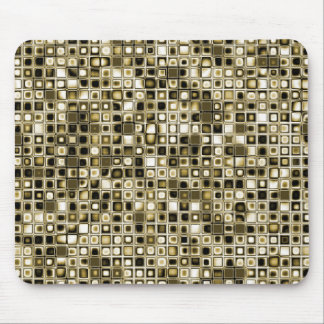 Distressed Sepia Tones Textured Grid Pattern Mouse Pad
