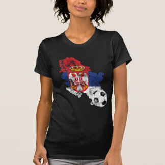 Distressed Serbia Soccer T-Shirt