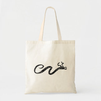Distressed Serpent Silhouette Budget Tote Bag