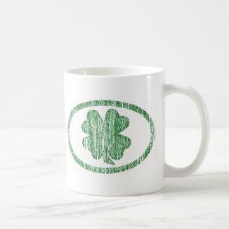 Distressed Shamrock Coffee Mugs
