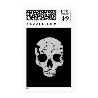 Distressed Skull Postage Stamps